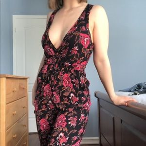 Urban Outfitters Floral Jumpsuit
